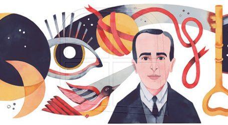 Google dedica un doodle al poeta chileno Vicente Huidobro