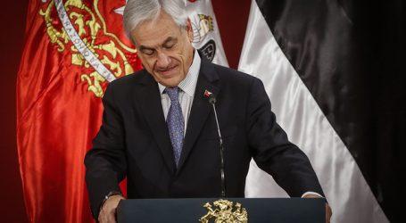 Cadem: Aprobación del Presidente Piñera se mantuvo en su mínimo histórico