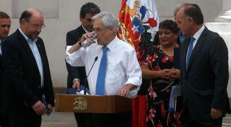 Piñera recibe propuesta de la Mesa Nacional del Agua para enfrentar sequía