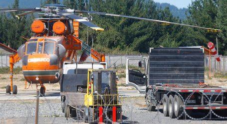 Helicópetro usado para incendios forestales sufre ataque incendiario en Biobío