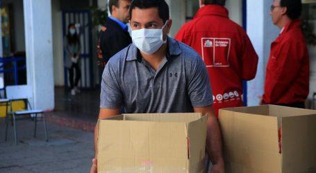 Figueroa informó que Junaeb ha entregado unas 300 mil cajas de alimentos