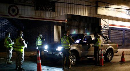 Carabineros informó de 782 conducidos en pasada jornada de toque de queda