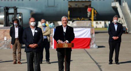 Presidente Piñera encabezó la recepción de 218 ventiladores mecánicos