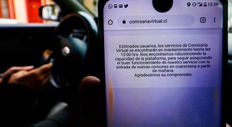 Comisaría Virtual de Carabineros sigue sin funcionamiento