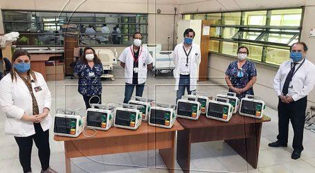 Servicio de Salud de Arica entregó nuevos desfribiladores a hospital regional