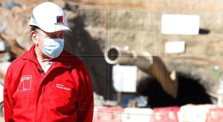 MOP supervisa construcción de sistema de agua del Embalse Los Aromos
