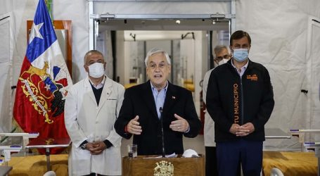 Piñera inspecciona hospital modular Sótero del Río que sumará 100 camas a la red
