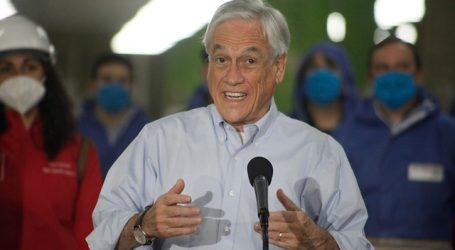 Piñera reafirma necesidad de alcanzar ahora un acuerdo nacional con la oposición
