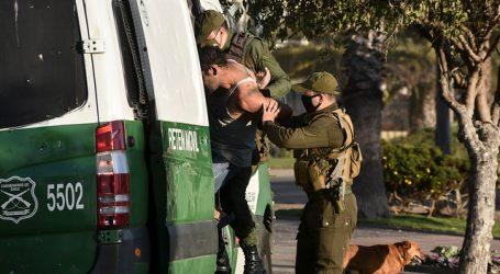 Carabineros reportó un total de 1.245 detenidos en la última jornada