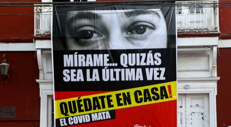 Copiapó: Municipio instala pendón con potente mensaje para prevenir el Covid-19