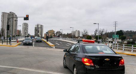 Nuevo puente Los Castaños se abrió al uso público en Viña del Mar