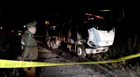 Desconocidos queman tres camiones y una grúa en Cañete