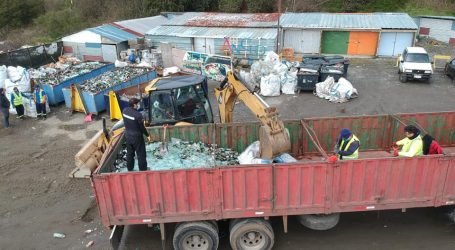 Municipio de Ancud recicla 20 toneladas de vidrios