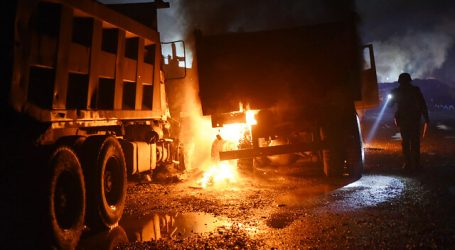 Cinco camiones resultaron quemados en incendio ocurrido en Renca