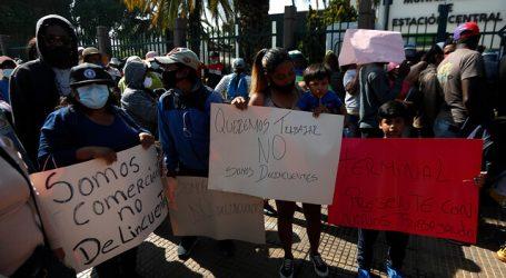 Vendedores ambulantes se manifestaron nuevamente en Estación Central