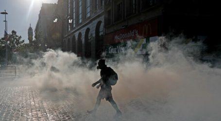 Al menos 21 detenidos por desórdenes en el centro de Santiago