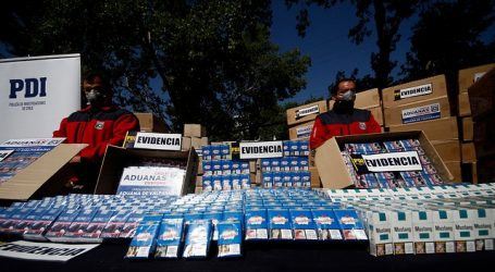 Millonarios decomisos de cigarrillos de contrabando en centro y norte del país