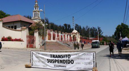 Tramo de la Ruta 68 está cerrado tras suspensión de peregrinaje a Lo Vásquez