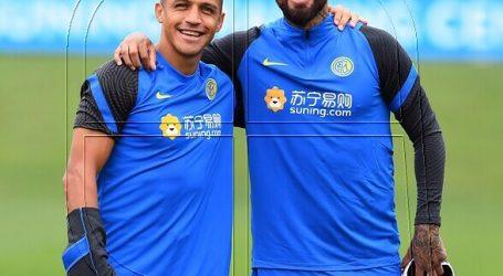 Vidal y Alexis comienzan el 2021 entrenando de cara al cruce Inter-Crotone