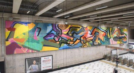 Inauguran mural del artista Ciro Beltrán en estación Chile España del Metro