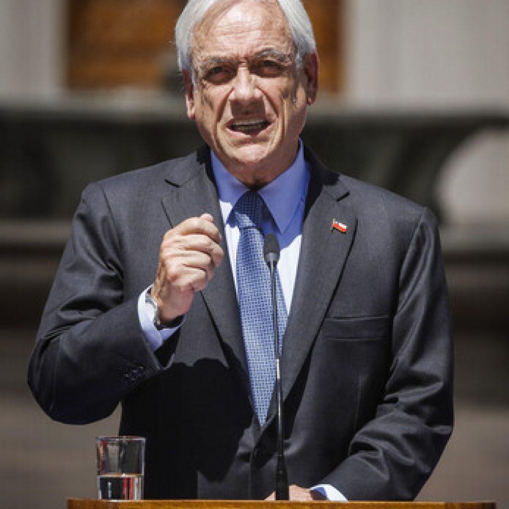 """Presidente Sebastián Piñera: """"Todo Chile exige y merece Justicia"""""""