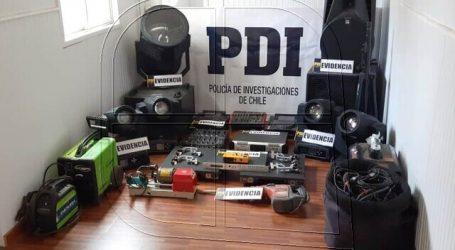 PDI recupera equipos de audio sustraídos desde centro de eventos de Quintero