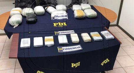 Arica: Detienen a 3 personas por ingreso clandestino con más de 33 kg de drogas