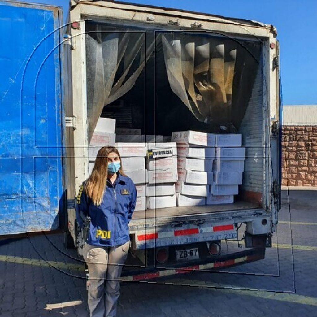PDI recupera camión con carnes paraguayas avaluadas en 130 millones de pesos