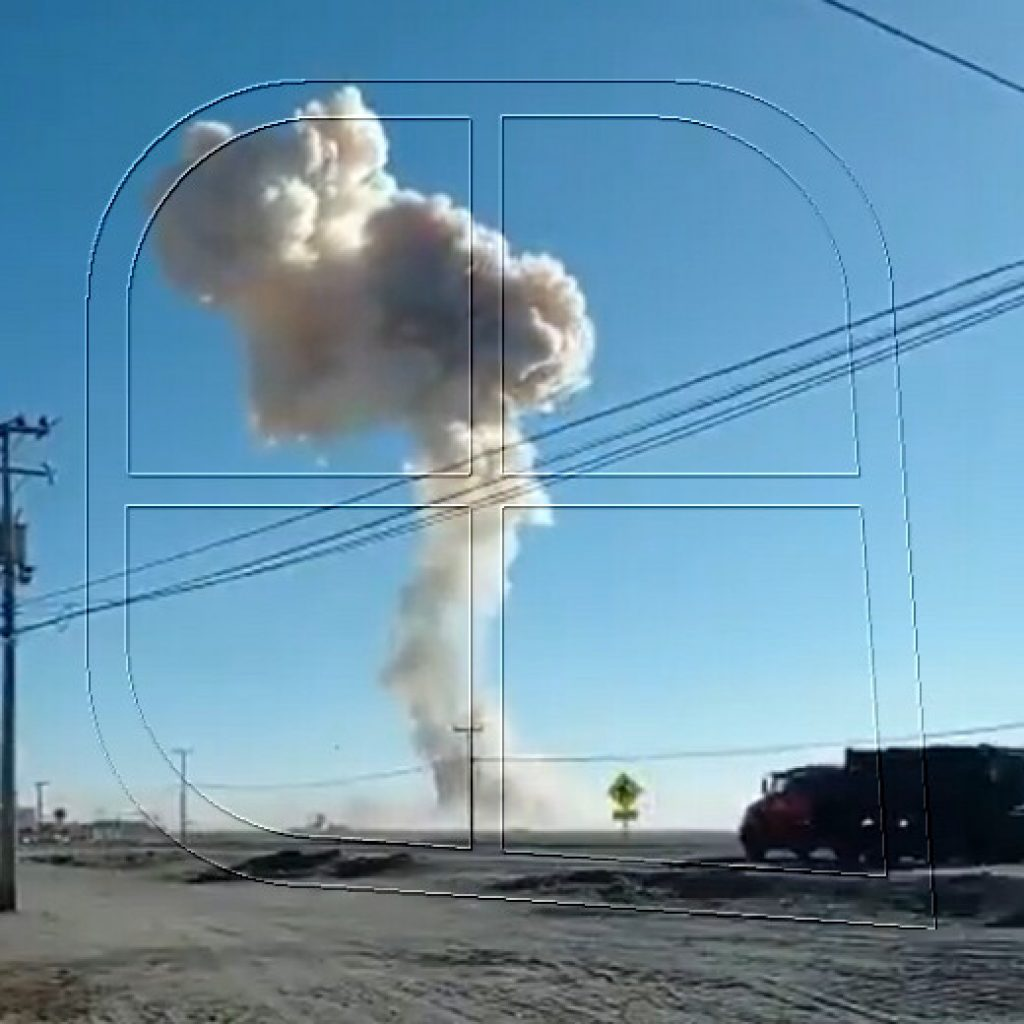 Fuerte explosión se registró en cercanías de Calama