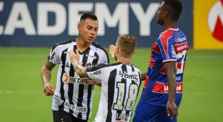 Brasil: Eduardo Vargas ingresó en derrota del Atlético Mineiro ante Fortaleza