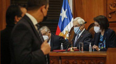 Piñera asistió a proclamación de resultados de la elección de constituyentes