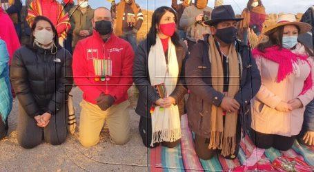 Ministra Rubilar celebró Machaq Mara en Cariquima