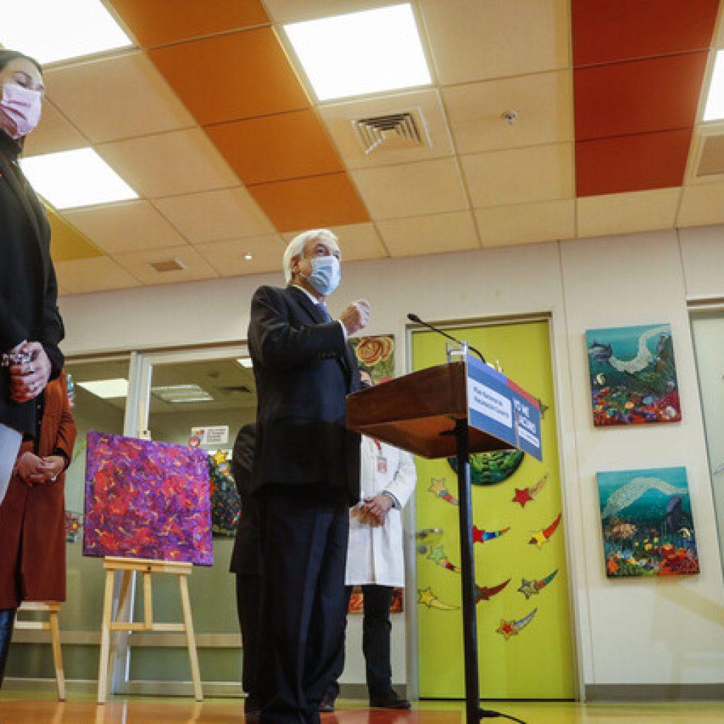 Presidente Piñera encabezó inicio de vacunación de menores de edad