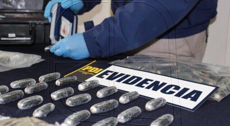 PDI La Calera incautó más de 6 mil dosis de cocaína transportada en ovoides
