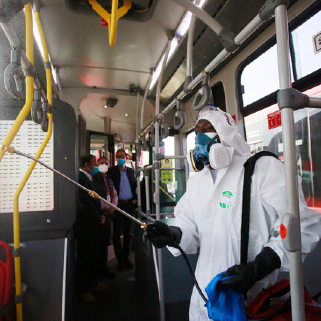 MTT realiza balance de sanitización de buses tras avance a Fase 3 de la RM