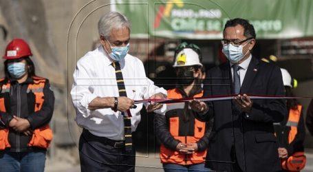 Presidente Piñera inaugura nuevo Túnel El Melón en la Ruta 5 Norte