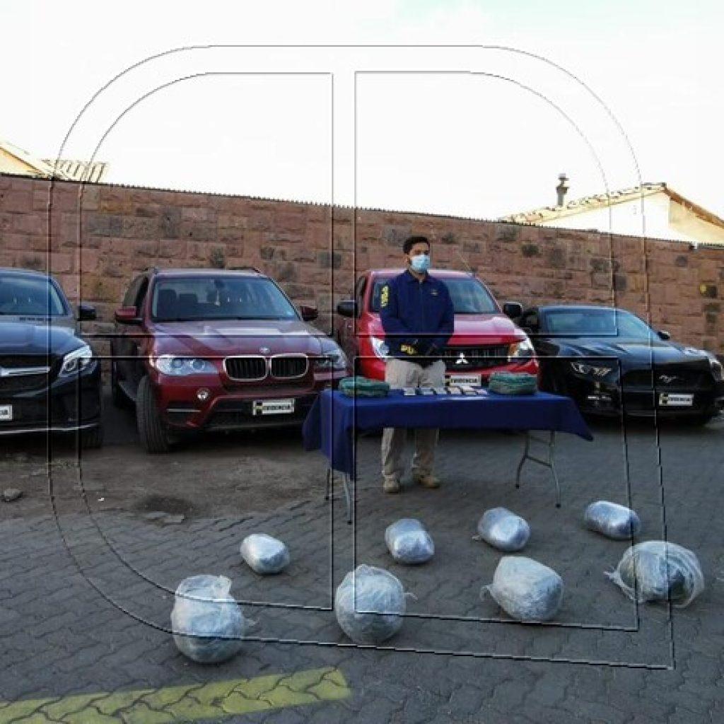 Operación Ceres: PDI Los Andes incauta droga y vehículos de alta gama