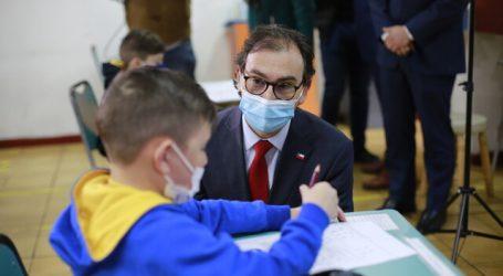 Ministro Figueroa dio inicio al segundo semestre escolar 2021