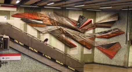 Inauguran nuevo mural en estación San Alberto Hurtado del Metro
