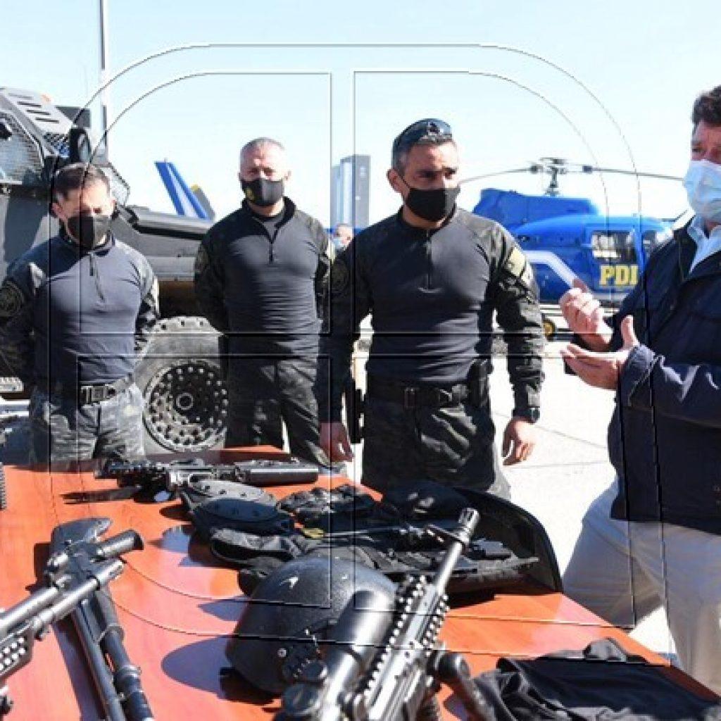 Gobernador Orrego visita Brigada Táctica de Operaciones Especiales PDI