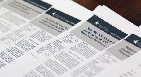 Cuarto retiro: Comisión declaró inadmisible indicación sobre impuestos
