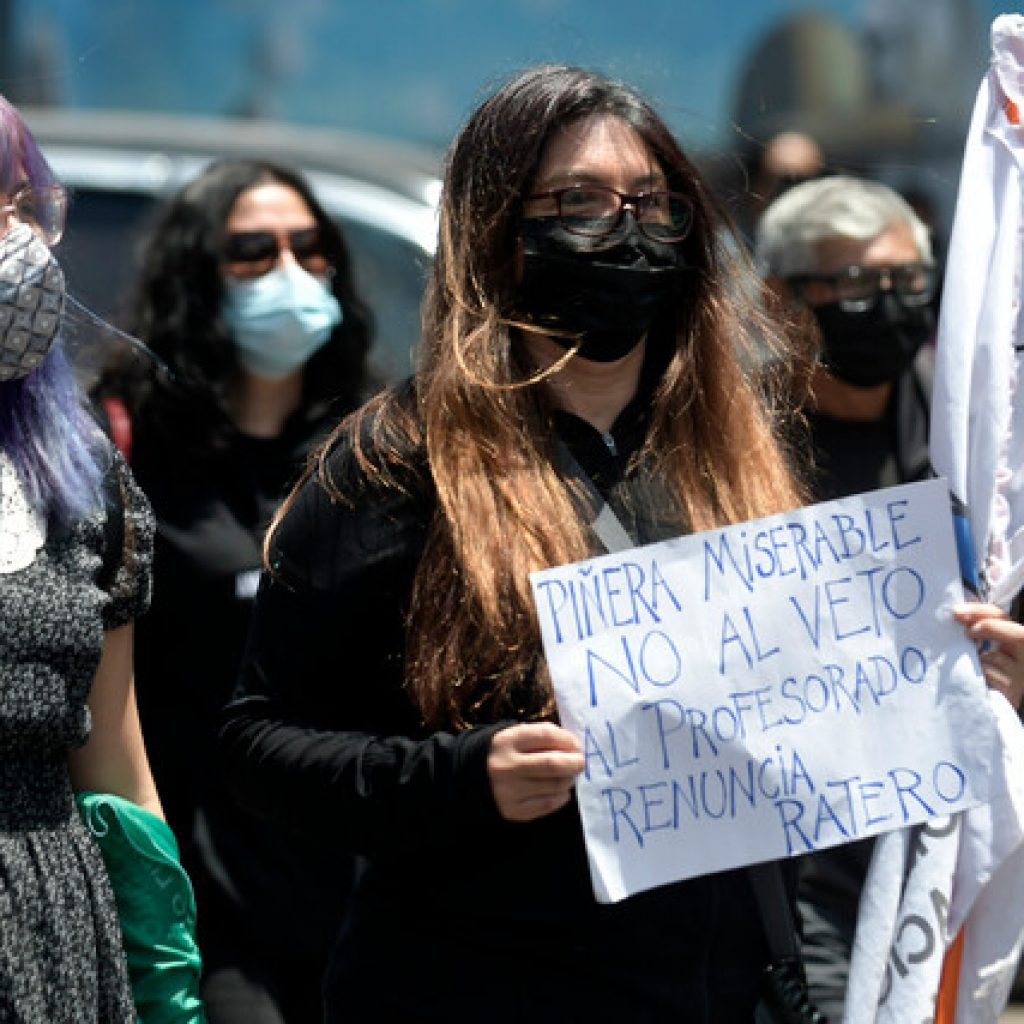 Profesores advierten paro prolongado si no se anula veto presidencial